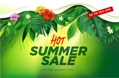 Summer sale banner design template Stock Images