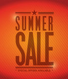 Summer sale banner illustration design Royalty Free Stock Image