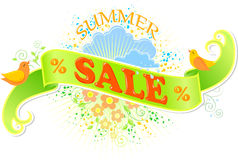 Summer sale banner. Isolated. This is file of EPS8 format Royalty Free Stock Images