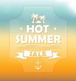 Summer sale banner Royalty Free Stock Photography