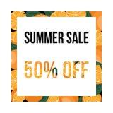 Summer sale banner with oranges. Design template. Vector illustration stock illustration