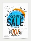 Summer Sale Banner, Poster or Flyer design. Stock Photos