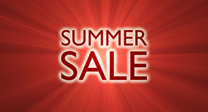Summer sale banner red light flare Stock Photos