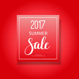 2017 summer sale banner. On red marketing design Stock Photos