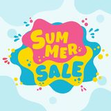 Summer sale banner. Summer super sale banner template stock illustration