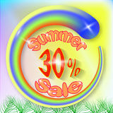Summer sale banner royalty free stock image