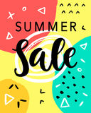 Summer Sale Banner Template Stock Photos