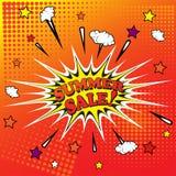 Summer sale banner template design. Vector illustration Stock Photos