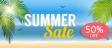 Summer Sale Banner Template for your Business. Vector Illustrati. On EPS10 Stock Images
