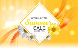 Summer Sale Banner Template for your Business. Vector Illustrati. On EPS10 Royalty Free Stock Photo
