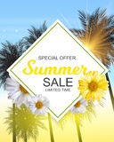 Summer Sale Banner Template for your Business. Vector Illustrati. On EPS10 Stock Photo