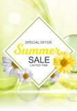 Summer Sale Banner Template for your Business. Vector Illustrati Stock Photos