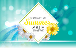 Summer Sale Banner Template for your Business. Vector Illustrati Royalty Free Stock Image