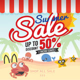 Summer Sale Banner. Royalty Free Stock Photos