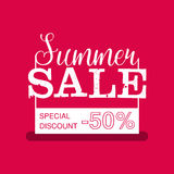 Summer Sale banner. Vintage design. Vector illustration. Stock Photography