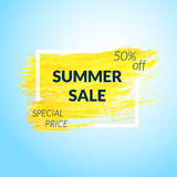 Summer Sale banner. Stock Photography