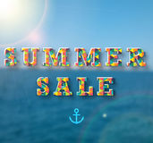 Summer sale banner for your design.  stock illustration
