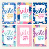 Summer sale banners Royalty Free Stock Images