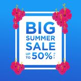 Summer sale banners or background design template colorful. Can be used for posters, banners, promotions on websites, social media royalty free illustration