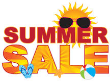 Summer Sale Beach Theme Banner vector Illustration Stock Image
