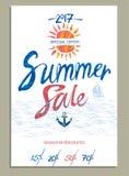 Summer Sale beautiful background. Stock Photo