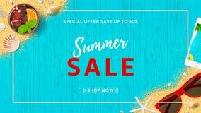 Summer sale beautiful web banner Stock Photo
