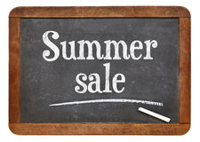 Summer sale blackboard sign Stock Photos