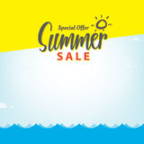 Summer Sale blank frame heading design for banner or poster. Sal Royalty Free Stock Photography
