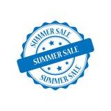 Summer sale stamp illustration. Summer sale blue stamp seal illustration design Stock Photos