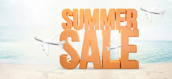 Summer sale. bold summer 3d render Royalty Free Stock Photography