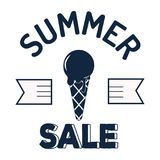 Summer sale clearance vector badge Stock Photography