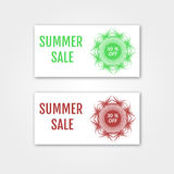 Summer Sale collection. Vector Summer price tags. Royalty Free Stock Photo