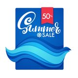 Summer Sale,  Color Flow Vector Discount Banner Template Design Royalty Free Stock Image