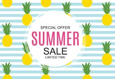 Summer Sale concept Background. Vector Illustration. EPS10 Royalty Free Stock Photo