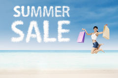 Summer sale concept Stock Image