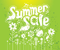 Summer sale. Concept  illustration Royalty Free Stock Photography