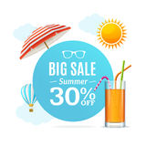 Summer Sale Concept Labels or Tags. Vector Royalty Free Stock Image