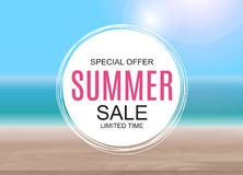 Summer Sale concept poster background. Vector Illustration. EPS10 Stock Images