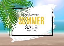 Summer Sale concept poster background. Vector Illustration. EPS10 Stock Image
