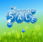 Summer Sale Concept. Vector Illustration. Stock Image