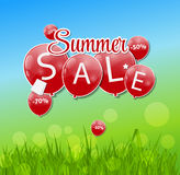 Summer Sale Concept. Vector Illustration. Royalty Free Stock Photos