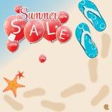 Summer Sale Concept. Vector Illustration. Stock Photos