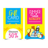 Summer Sale coupon. Discount Coupon design,Summer Sale coupon  illustration Royalty Free Stock Photography
