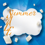 Summer sale creative design template Royalty Free Stock Image