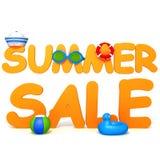 Summer Sale 3d illustration Stock Images