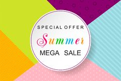Summer Sale Design Background. Sale poster. Vector illustration. Eps 10 Royalty Free Stock Photos