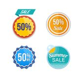 Summer sale. Design banners and discount stickers. Special offer templates. Royalty Free Stock Images