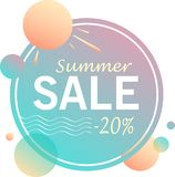 Summer sale - design of banners stock illustration