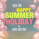 Summer Sale Design Stock Images