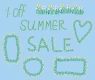Summer sale design elements Stock Photography